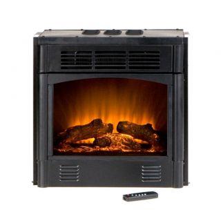 Electric Firebox Fireplace Insert Room Heater w Remote FA5145 Black 18
