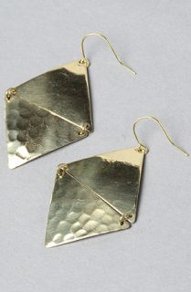 Accessories Boutique The Double Triangle Drop Earrings in Gold