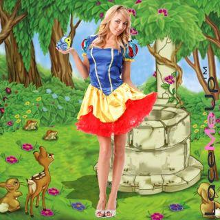 New Fairytale Fancy Snow White Costume Dress Ladies 6 8
