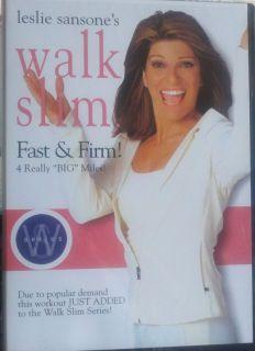 Leslie Sansone Walk Slim Fast Firm DVD Brand New Factory Sealed