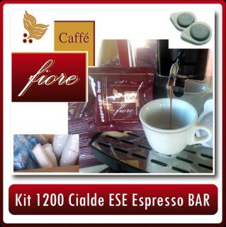 1200 Cialde ESE Caffe Fiore Miscela Espresso Bar Kit Accessori in Box