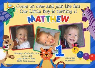 Baby Einstein 1st Birthday Party Invitations