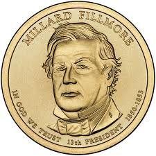 2010 D Millard Fillmore Presidential $25 Dollar Bank Roll Head Tail