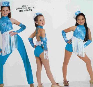 New Art Stone Glitter Fringe Dance Jazz Tap Solo Costume Medium Adult