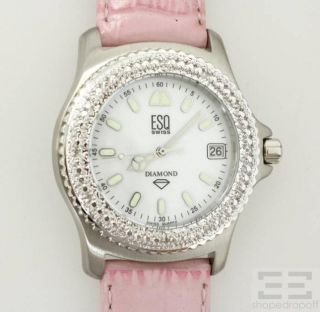 Esq Swiss Ladies Automatic Diamond Bezel Lolita Watch w 3 Bands New