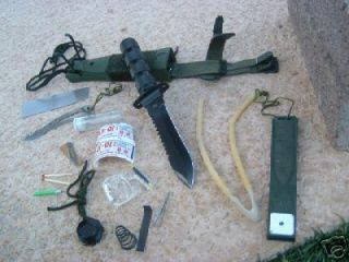 Knife Kit Camping Style Large Fire Gear Supplies Fish Hunt