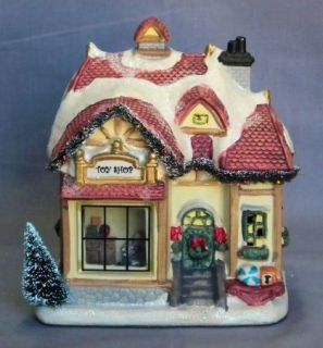 Victoria Falls Lighted Christmas Village Toy Shop NIP