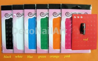Famous Brand Colorful Logo Design 3D Nail Art DIY Decorative Stickers
