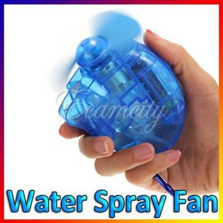 Blue Mini Portable Water Spray Cooling Cool Fan Mist Sport Beach Camp