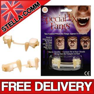 Special FX Fangs Retractable Vampire Monster Teeth Halloween Fancy