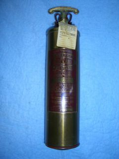 Vintage Brass Fire Extinguisher Chris Craft General Fire Guard Quick