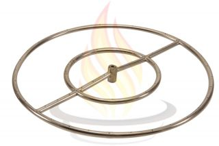 24 Round Stainless Steel Fire Pit Burner Ring Natural Gas