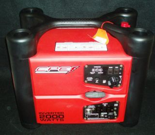 CPE Power Sports Generator Inverter 2000 Watt 120 Volt Three Outlets