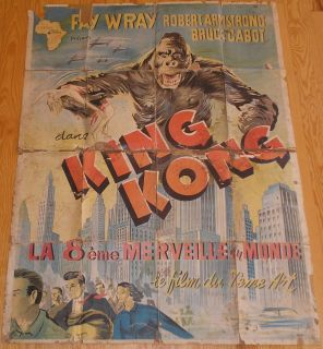King Kong Fay Wray French Movie Poster R50S