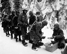 347th infantry regiment on their way to la roche belgium 13 january