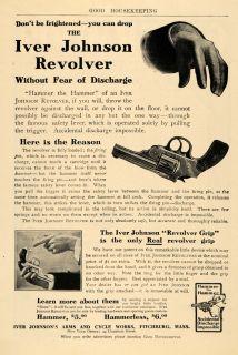 Iver Johnson Revolver Arms Fichburg Gun Hammer   ORIGINAL ADVERISING