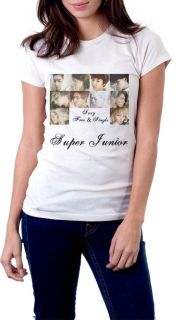 Super Junior T Shirt, KPOP SUJU Sexy, Free & Single White Tee