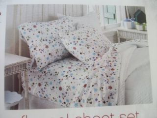 Queen Size Snowmen Cozy Holiday Winter Flannel Sheet Set NIP