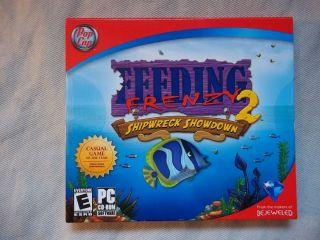 FEEDING FRENZY 2 SHIPWRECK SHOWDOWN VIDEO GAME POP CAP CD ROM SOFTWARE