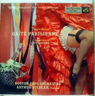 ARTHUR FIEDLER offenbach gaite parisienne LP VG+ LM 1817 Vinyl Plum SD