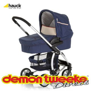 Hauck Malibu 2012 Travel System in Navy Inc Stroller Carrycot Car Seat