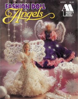 Annies Crochet Patterns FASHION DOLL ANGELS 5 Gowns for Barbie Friends