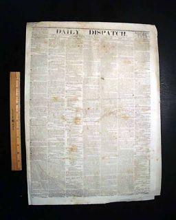 Confederate Newspaper Battle of Santa Rosa Island Florida 1861 Civil