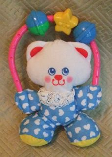 Fisher Price 1996 Baby Rattle Toy Kitty Cat 1188