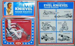 evel knievel 1977 ideal mib die cast chopper motorcycle