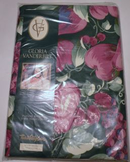 OBLONG GLORIA VANDERBILT TABLECLOTH FLANNEL BACKED VINYL FRUIT DESIGN