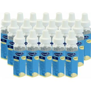 Evenflo 8 oz Glass Bottle 18 Pack Feeding Baby Baby Bottle Clear