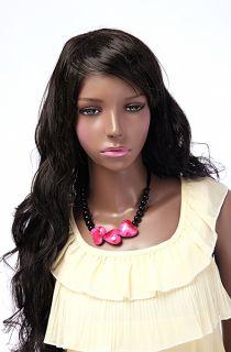 Female Plastic Mannequin Durable Unbreakable Dark African Girl Manikin