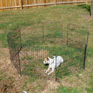 Playpen Dog Cat Rabbit Exercise Fence Yard Kennel Portable Pen