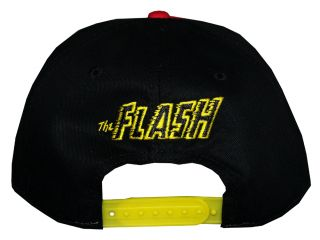 The Flash DC Comics Superhero Logo Adjustable Flat Bill Hat Cap