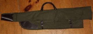 Vintage Straight Shooter Compact Canvas and Leather Shotgun Case Very