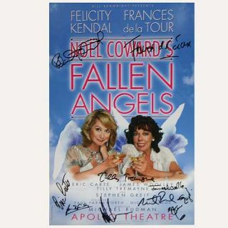 Bway de La Tour Cast Signed Fallen Angels London Poster