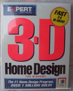 Vintage Computer Expert Software 3 D Home Design Windows 3 1 New