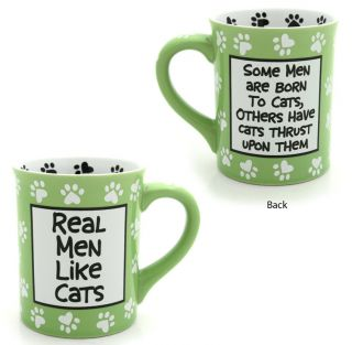 Our Name is Mud Real Men Like Cats Cat Lover Mug Coffee Tea Mugs