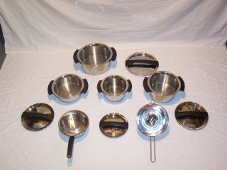 FISSLER MAGIC STAINLESS STEEL WATERLESS COOKWARE SET 10 PIECES MADE IN