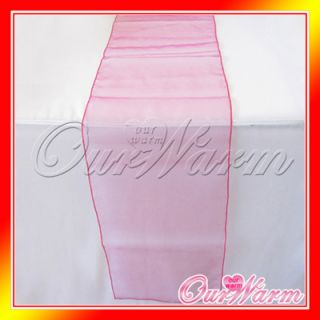 Fuchsia 12x108 Organza Table Runner Wedding Party Decoration Color