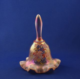 Fenton Art Glass Company Pink Opalescent Glass Bell Diamond Optic