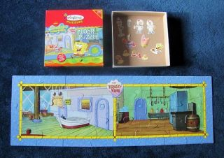BIG Nickelodeon SPONGEBOB SQUAREPANTS Colorforms FLOOR PUZZLE 40 Long