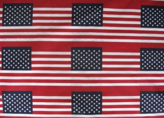 American Flag USA 60 Wide Fabric Stars Stripe BTY Yards 7X12 Red