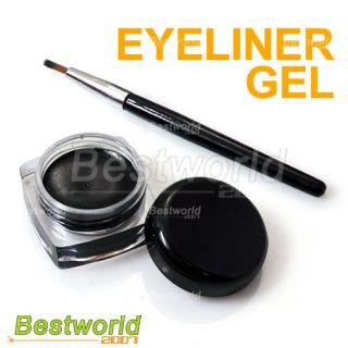 black waterproof eye liner eyeliner gel makeup brush specification