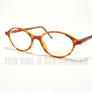 Size Oval Shaped Eyeglass Frame Optical Glasses Tortoise Brown