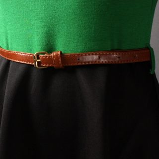 Green Two Tone Color Block Sleeveless Flare Belted A Line Dress Size S