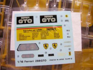 Fujimi 1 16 Ferrari 288GTO Yellow Body Plastic Model Kit