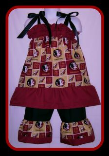 Florida State Seminoles Boutique Custom Pillowcase Dress Set
