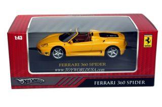 hot wheels collectors 360 spider ferrari 1 43 scale ferrari official