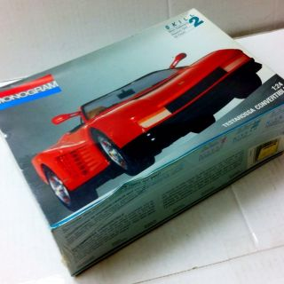Ferrari TESTAROSSA CONVERTIBLE 1 24 Scale Plastic Assembly Glue And